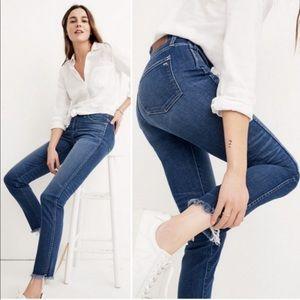 Madewell High Rise Slim Straight Leg Jeans